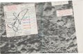 """Explorers, Apollo 13 Flown Orbital Science Chart """"C"""" Directly from the Personal Collection of Mission Commander James Lovell, Signed, wit..."""