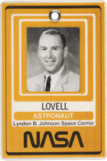 Explorers:Space Exploration, James Lovell's Johnson Space Center Astronaut Photo Identification Badge Directly from his Personal Collection, with Signe...