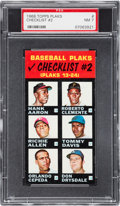 Baseball Cards:Singles (1960-1969), 1968 Topps Plaks Roberto Clemente (Checklist #2) PSA NM 7 - PopOne, None Higher! ...