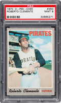 Baseball Cards:Singles (1970-Now), 1970 O-Pee-Chee Roberto Clemente #350 PSA Mint 9 - Pop Two, None Higher. ...