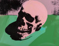 Prints, Charles Lutz (b. 1982). Skull (Pink/Green), 2007. Acrylic and silkscreen ink on canvas. 15 x 18-3/4 inches (38.1 x 47.6 ...