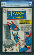 Silver Age (1956-1969):Superhero, Action Comics #265 (DC, 1960) CGC VG 4.0 Off-white to white pages.
