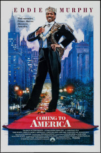 """Coming to America & Other Lot (Paramount, 1988). One Sheets (2) (27"""" X 39.75"""" & 27"""" X 41&..."""