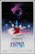 """Movie Posters:Animation, Fantasia (Buena Vista, R-1990). 50th Anniversary One Sheet (27"""" X 41"""") & Video Poster (26"""" X 39.75""""). Animation.. ... (Total: 2 Items)"""