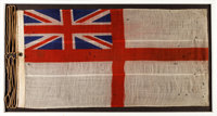 WWII Royal Navy Ensign Flown From the British Landing Ship SS Empire Crossbow, Gold Beach, D