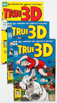 True 3-D #1 and 2 File Copy Short Box Group (Harvey, 1953) Condition: Average VF/NM