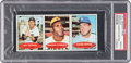Baseball Cards:Singles (1970-Now), 1971 Bazooka (No Number Uncut Panel) Freehan/Clemente/Osteen PSA Mint 9 - Pop Four, One Higher. ...