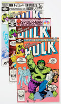 Modern Age (1980-Present):Superhero, The Incredible Hulk Long Box Group (Marvel, 1980s) Condition:Average VF/NM....