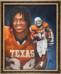 Football Collectibles:Others, 1998 Ricky Williams Heisman Trophy Winner Original Artwork by Ted Watts....