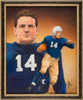 Football Collectibles:Others, 1937 Clint Frank Heisman Trophy Winner Original Artwork by Ted Watts....
