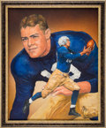 Football Collectibles:Others, 1936 Larry Kelly Heisman Trophy Winner Original Artwork by Ted Watts....