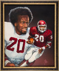 Football Collectibles:Others, 1978 Billy Sims Heisman Trophy Winner Original Artwork by Ted Watts....