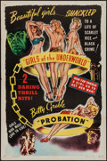 "Movie Posters:Exploitation, Girls of the Underworld/Probation Combo (Willis Kent Productions,R-1940s). One Sheet (27"" X 41""). Exploitation.. ..."