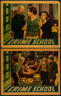 "Movie Posters:Crime, Crime School (Warner Brothers, 1938). Linen Finish Lobby Cards (2)(11"" X 14""). Crime.. ... (Total: 2 Items)"