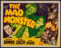 """Movie Posters:Horror, The Mad Monster (PRC, 1942). Title Lobby Card (11"""" X 14""""). Horror.. ..."""