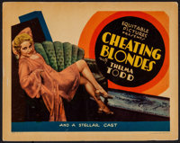 """Cheating Blondes (Equitable Pictures, 1933). Title Lobby Card (11"""" X 14""""). Mystery"""