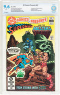 Modern Age (1980-Present):Superhero, DC Comics Presents #47 Superman and the Masters of the Universe(DC, 1982) CBCS NM+ 9.6 White pages....