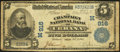 National Bank Notes:Ohio, Urbana, OH - $5 1902 Plain Back Fr. 598 The Champaign NB Ch. # (M)916. ...