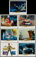 """Movie Posters:Animation, Peter Pan (Buena Vista, R-1982). Title Lobby Card & Lobby Cards (6) (11"""" X 14""""). Animation.. ... (Total: 7 Items)"""