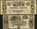 Obsoletes By State:Louisiana, New Orleans, LA- New Orleans Canal & Banking Company $10 18__ and $20 18__ Remainders. ... (Total: 2 notes)