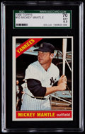 Baseball Cards:Singles (1960-1969), 1966 Topps Mickey Mantle #50 SGC 70 EX+ 5.5....