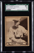 Baseball Cards:Singles (1940-1949), 1940 Play Ball Casey Stengel (Superman Back) #141 SGC 40 VG 3....