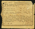 Colonial Notes:Virginia, Virginia May 28, 1785 £1696.10s/£1.13s.10d Very Fine.. ...