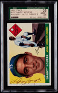 Baseball Cards:Singles (1950-1959), Signed 1955 Topps Sandy Koufax #123 SGC 35 Good+ 2.5....