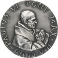 Explorers:Space Exploration, Pope Paul VI Silver Pontifical Medal Presented to Apollo 12Astronaut Alan Bean. Originally from His Personal Collection,with...