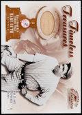 Baseball Cards:Singles (1970-Now), 2001 Donruss Classics Timeless Treasures Babe Ruth Relic Card#TT-2....