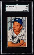 Baseball Cards:Singles (1950-1959), 1952 Bowman Mickey Mantle #101 SGC 30 Good 2....