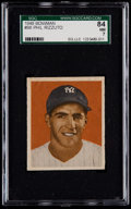 Baseball Cards:Singles (1940-1949), 1949 Bowman Phil Rizzuto, No Name On Front #98 SGC 84 NM 7....