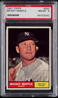 Baseball Cards:Singles (1960-1969), 1961 Topps Mickey Mantle #300 PSA NM-MT 8....