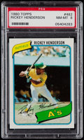 Baseball Cards:Singles (1970-Now), 1980 Topps Rickey Henderson #482 PSA NM-MT 8....
