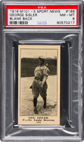 Baseball Cards:Singles (Pre-1930), 1916 M101-5 Blank Back (Sporting News) George Sisler #166 PSA NM-MT8 - Pop Two, Two Higher! ...