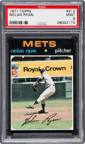 Baseball Cards:Singles (1970-Now), 1971 Topps Nolan Ryan #513 PSA Mint 9 - None Higher....