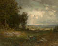 Fine Art - Painting, American:Antique  (Pre 1900), Alexander Helwig Wyant (American, 1836-1892). End of Summer,circa 1880-1892. Oil on canvas. 28-1/2 x 35-1/2 inches (72....