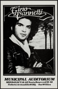 """Movie Posters:Rock and Roll, Gino Vannelli at the Municipal Auditorium (1976). Concert Window Card (11.25"""" X 17.5""""). Rock and Roll.. ..."""