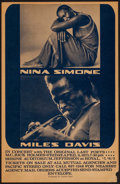 Movie Posters:Musical, Nina Simone & Miles Davis in Concert with the Original Last Poets at the Shrine Auditorium. (Concert Capri, 1973). Concert W...