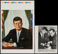 """Movie Posters:Documentary, John F. Kennedy by Victor Lallier & Other Lot (1960s). Printer's Proof Poster (12.5"""" X 19"""") & Photo (8"""" X 10""""). Miscellaneou... (Total: 2 Items)"""