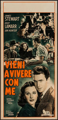 "Movie Posters:Comedy, Come Live with Me (MGM, 1948). First Post-War Release Italian Locandina (13"" X 27""). Comedy.. ..."