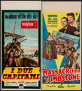 """Movie Posters:Western, The Far Horizons & Others Lot (Paramount, 1955). Italian Locandinas (4) (approx. 13"""" X 28""""). Western.. ... (Total: 4 Items)"""