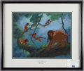 "Books:Prints & Leaves, [Animation Art]. Limited Edition Tarzan Sericel Entitled""Surfing on a Vine."" Disney Enterprises, Inc., 1999. Si..."