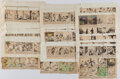 Books:Comics - Golden Age, [Tarzan]. William Jahré (artist). Collection of Approximately Eighty Daily Comic Strips. Circa 1936. Average Condition: G/...
