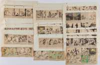 [Tarzan]. William Jahré (artist). Collection of Approximately Eighty Daily Comic Strips. Circa 1936. Average Cond...