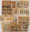 Books:Prints & Leaves, [Burne Hogarth, Rex Maxon, Hal Foster.] Collection of Color Tarzan Comics. Los Angeles and elsewhere: 1933-1942....