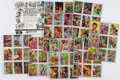 Miscellaneous:Trading Cards, [Trading Cards]. Set of Sixty-Six Banner Tarzan Trading Cards, Plus Advertisement. [Banner Productions, 1966]....