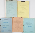 Books:Science Fiction & Fantasy, [Tarzan]. Group of Five Screenplays and Continuity Scripts. Circa 1957-1967.... (Total: 5 Items)