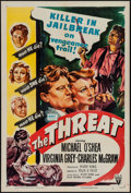 """Movie Posters:Crime, The Threat (RKO, 1949). One Sheet (27"""" X 41""""). Crime.. ..."""