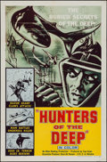 "Movie Posters:Documentary, Hunters of the Deep (DCA, 1955). One Sheet (27"" X 41"").Documentary.. ..."